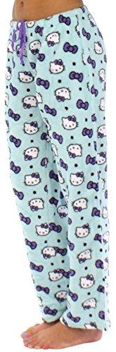 Hello Kitty Women's Fleece Pajama Pants (Mint, LRG)