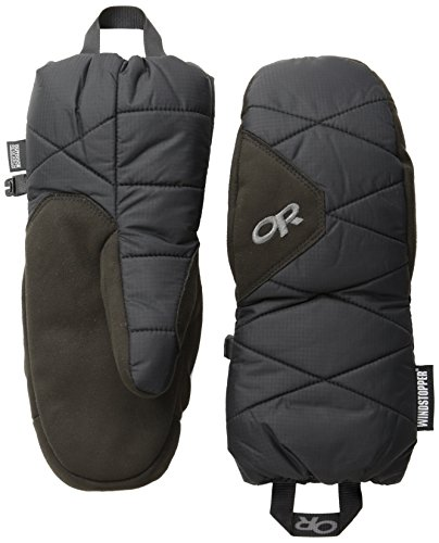 Goose Mittens Down - Outdoor Research Phosphor Mitts, Black, Large
