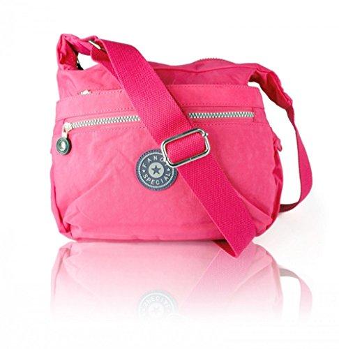 Craze London - Bolso cruzados para mujer rosa roja
