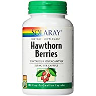 Solaray Hawthorn Berries Capsules, 525 mg, 180 Count
