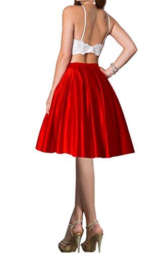 Missdressy - Vestido - plisado - para mujer rojo-1