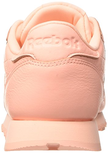 Reebok Classic Leather L Damen Niedrig Schuhe, Pink (Grit-peach Twist/sleek Met)