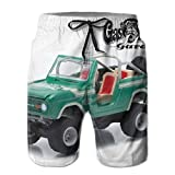 Gas-Monkey-Garage-Collectibles Mens 3D Printed Cool Swim Trunks Quick Dry Beachwear Lightweight Sports Running Swim Board Shorts with Cargo Pockets