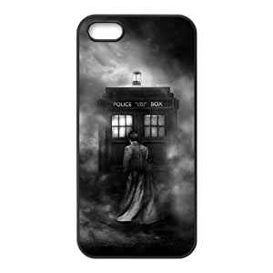 Mystic Zone Doctor Who Tardis Door Cover Case for iPhone 5/5S TPU Back Cover Fits Case WSQ1699