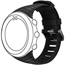 for Suunto Core Watch Replacement Band, DB Colorful Soft Silicone Replacement Strap with Metal Clasp for Suunto Core Smart Watch (Free Size,NO Deceive) All Balck