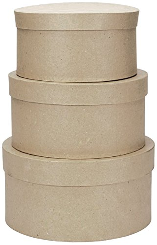 (Darice Paper Mache Round Box Set 4 Inches 5 Inches and 6 Inches (2 Pack))