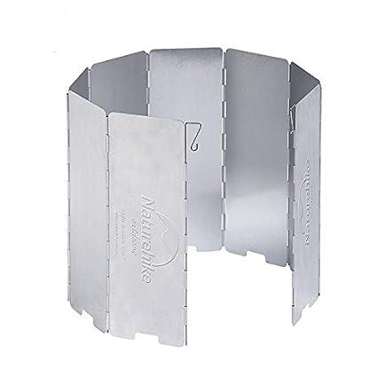 ShopSquare64 Naturehike NH15F008-B 8 Placas Estufa Parabrisas Plegable Cocina de Gas Deflector de Viento