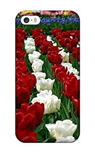 Iphone 5/5s XhRdjtH4047VlBJL Incredible Tulip Garden Flower Tpu Silicone Gel Case Cover. Fits Iphone 5/5s