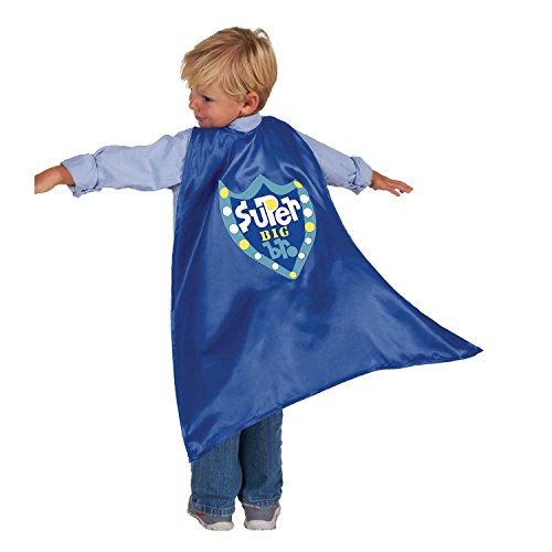 Old Cape (C.R. Gibson Blue Cape 'Big Brother' Cape Children's Costume, 3pc, 22'' L)