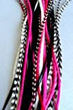 "6""-11"" Hot Pink Hair Feathers Bonded Together At the Tip to Make One Feather Hair Extension offers"