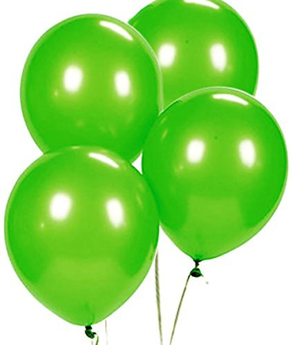Custom, Fun & Cool {Big Large Size 12'' Inch} 1500 Bulk Pack of Helium & Air Latex Rubber Balloons w/ Modern Simple Celebration Party Special Event Decor Design [In Bright Lime Green]