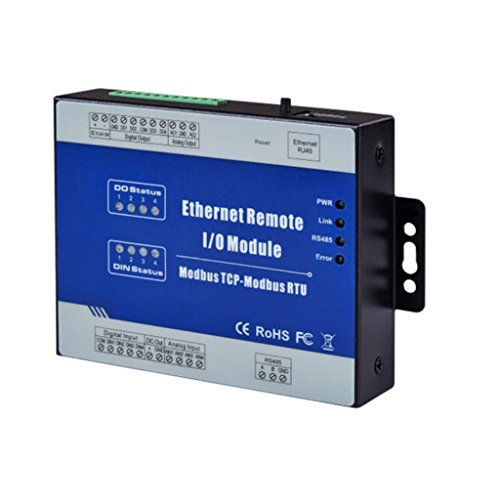 Blesiya M220T Modbus TCP Ethernet Remote IO Module (4DO sink Output+RJ45+RS485), Industrial Uses by Blesiya