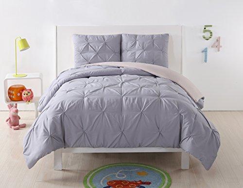 Lavender Twin Bedding - My World LHK-COMFORTERSET Pleated Reversible Twin XL Comforter Set, Twin/Twin, Lavender/Blush