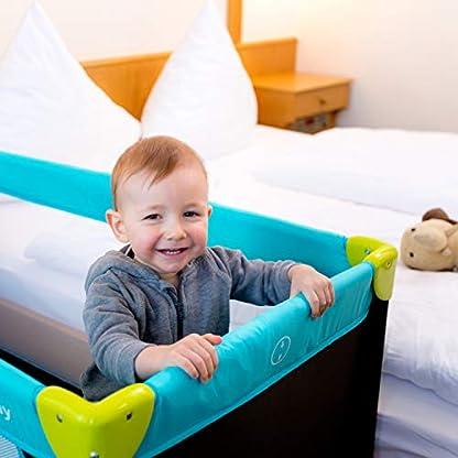 Hauck Kinderreisebett Dream N Play / inklusive Einlageboden und Tasche / 120 x 60cm / ab Geburt / tragbar und faltbar, Wasser (Blau) 6