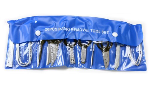 Supercrazy 20PCS Universal Car Radio Removal Tool kit For Mercedes-Benz BMW VW Audi SF0036