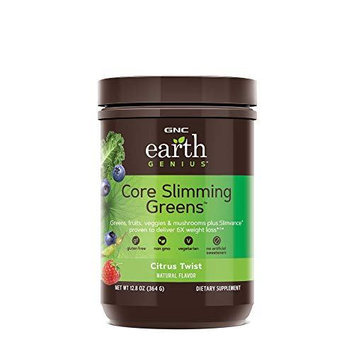 - GNC Earth Genius Core Slimming Greens, Citrus Twist, 28 Servings