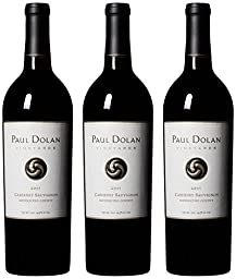 2015 Paul Dolan Vineyards Cabernet Sauvignon Mendocino County Pack, 3 x 750 mL Wine