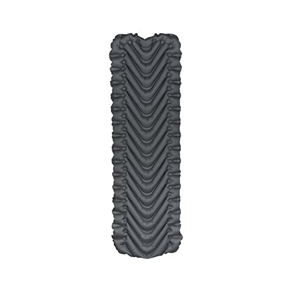 KLYMIT Static V2 Sleeping Pad, Ultralight, (12% Lighter), Great for Camping, Hiking, Travel and Backpacking 4 NEW AND IMPROVED: The most popular camping pad on Amazon just got 12% lighter and more backpacker friendly; Weighs only 16.33 oz INCREDIBLY LIGHTWEIGHT: New high end lighter fabrics for smaller pack size and weight.Dimensions: Inflated 72 x 23 x 2.5 inches V-CHAMBER DESIGN limits air movement and heat loss; Also provides better support and comfort