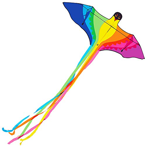 Besra Rainbow Parrot Kite 78inch Phoenix Bird Kite with Long Tails Outdoor Fun Sports for Beach & Park(Parrot)