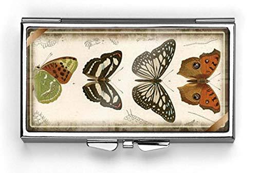 Vintage Desgin Butterfly Pill Box Compact Rectangle 7 Day Pill Box Pill Case