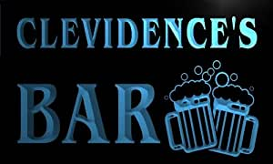 w062615-b CLEVIDENCE Name Home Bar Pub Beer Mugs Cheers Neon Light Sign