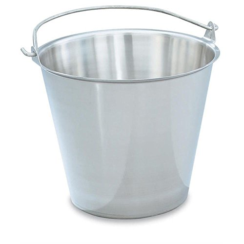 Vollrath (58130) Tapered Dairy Pail / Utility Bucket (12 1/2-Quart, Stainless ()