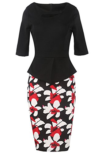 1/2 Sleeve Black Mother of the Bride Party Dress Short for Wedding