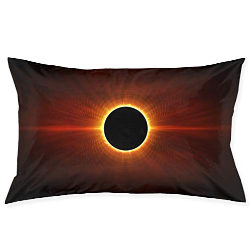 Kidhome 2030 Inch Throw Pillow Cases Solar Eclipse Sun Decorative Pillowcase Cushion Cover for Sofa]()