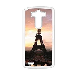 The Eiffel Tower White Phone Case for LG G3