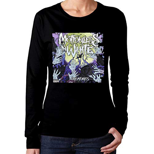 PaulineD Women's Motionless in White Creatures Long Sleeve T-Shirts Black -