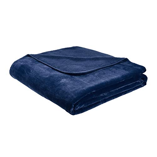 AmazonBasics Fuzzy Micro Plush Fleece Blanket