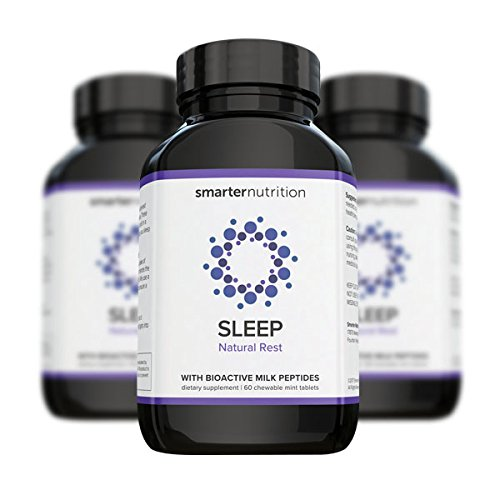 Smarter Sleep - Nighttime Sleep Aid with Bioactive Milk Peptides | Includes Organic Ingredients, AstraGin, Melatonin, a Naturally-Occurring Hormone for Regulating Sleep (180 Count - 3 Month - Milk Aid