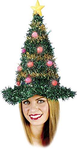 Christmas Tree Hat Light Up Costume Accessory -