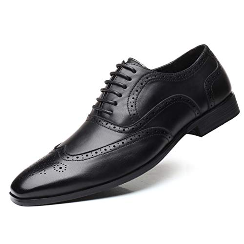 Men's Pointed Toe Shoes - Leather Wedding Shoes Business Fashion Casual Shoes,2019 New
