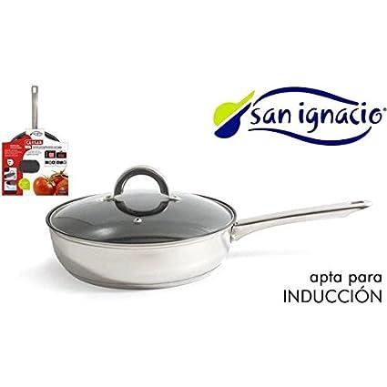 SARTEN ACERO INOX CON TAPA SAN IGNACIO CAESAR: Amazon.es: Hogar