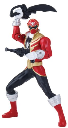 "Power Rangers Super Megaforce - 6.5"" Double Battle Action Red Ranger Action Figure, Glow in The Dark"