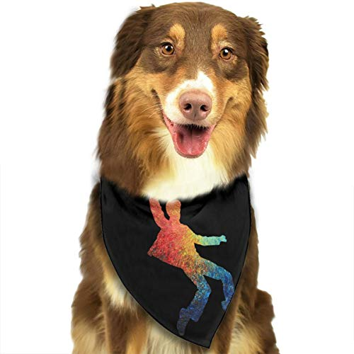 ANYWN Pet Dog Bandanas White Elvis Triangle Bibs Scarfs Accessories for Puppies Cats Pets Animals Large -