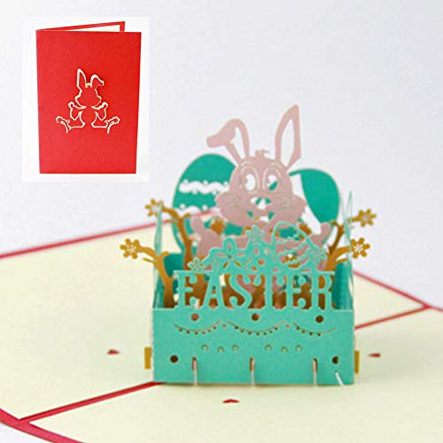 ller76 Greeting Card Festival Funny Blessing Party Supplies Pop Up Holiday Folding Paper Carving Handmade DIY Durable Easter Gift 3D Rabbit(as Shown)]()