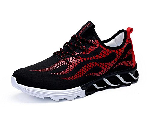 SHIXR Hommes Chaussures de sport décontracté Tendance européenne Chaussures de course Blade Chaussures Hommes Chaussures de fitness Chaussures de basket-ball , red , 42