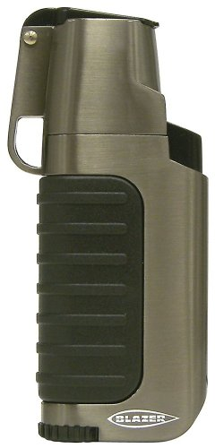 Blazer Venture Butane Refillable  Torch Lighter, Gun Metal - Blazer Lighters