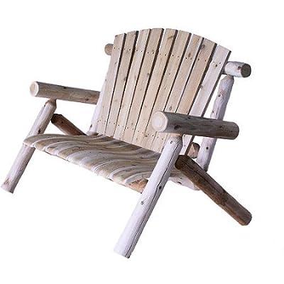 Rustic and Comfortable Cedar Log Loveseat