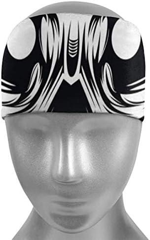 Braccialetto sportivo con teschio vettoriale, fascia sudore, fascia per sudore e sport fasce per sudore per uomini e donne