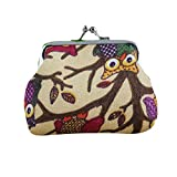 Wallet,yijiamaoyiyouxia Fashion Vintage Women Lovely Style Small Coin Pockets Wallet Hasp Owl Purse Clutch Bags Handbags (B)