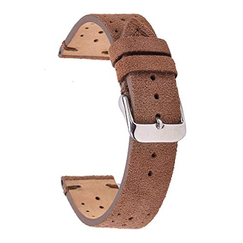 Rally Racing Perforated Watch Straps,EACHE Suede Leather Watch Bands for Men Watches 22mm