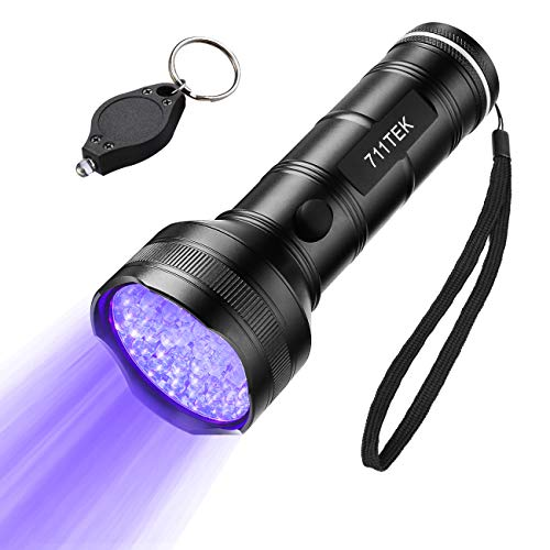 UV Flashlight Black light UV Lights, 711TEK 51 LED Ultraviolet Blacklight Pet Urine Detector For Dog/Cat Urine,Dry Stains,Bed Bug, Matching with Pet Odor Eliminator