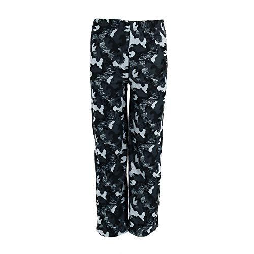 Boys Pants Fleece Pajama (Hanes Boy's Micro Fleece Pajama Lounge Pants, Medium, Grey Camo)
