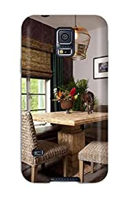 Awesome Case Cover/galaxy S5 Defender Case Cover(breakfast Nook With Neutral Grey Paint And Wicker Chairs)