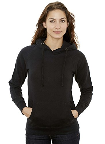 Women's Hooded Sweatshirt - Traditional Fit Soft Light Fleece Pullover Hoodie – Black - Small – by New York Avenue Fit Pullover