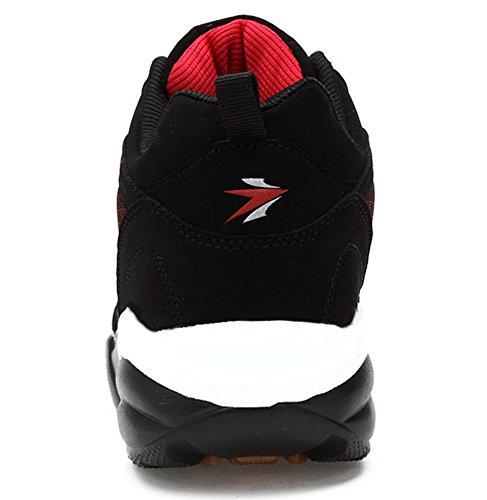 Santimon Zapatos Para Correr Con Nieve Hombres Invierno Cálido Atlético Cross-trainer Trail Runners Outdoor Cushion Zapatos Deportivos Rojo
