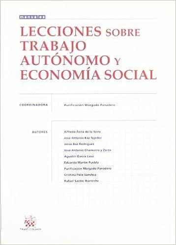 Lecciones sobre trabajo autónomo y economía social: Amazon.es ...